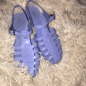 Blue Forever 21 jelly sandals